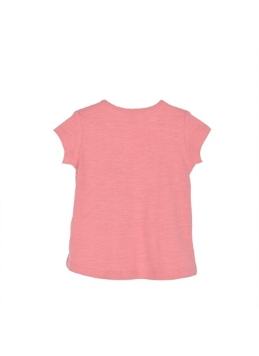 Silversun Kids Kız Bebek Baskılı Omuzdan Düğmeli Kısa Kollu Tişört Bk 115957 Pembe